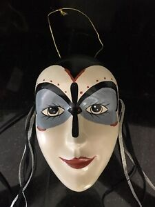 BRINN'S JESTER MASK COLLECTIBLE EDITION Porcelain Face Jingle Bells RARE