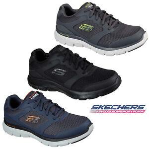 Skechers Mens Flex Advantage 4.0 Memory Foam Lightweight Leather Trainers Shoe