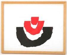 """Lithographie signiert Gerrit Westervoeld 2002 """"rot und schwarz"""", gerahmt  /#312"""