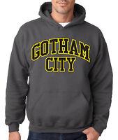 BATMAN GOTHAM CITY ORIGINAL CHARCOAL HOODIE DC Comics Hooded Sweatshirt Joker