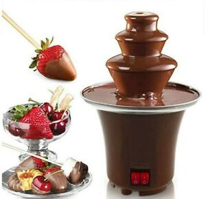 Chocolate Fountain Machine 3 Tier Stainless Steel Fondue Heat & Motor Controls