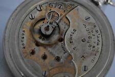 Antique 18s Seth Thomas 17j Private Label Pocket Watch