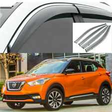 For Nissan Kicks 2017-2020 Window Visor Vent Sun Shade Rain Guard Chrome Trim. (Fits: Nissan)