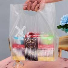 Transparent Plastic Bag Bread Cake Packaging Shopping Pocket with Handle XS