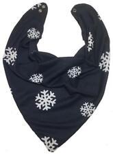 Adult Dribble Bib Special Needs Navy/White Snowflakes Bandana Bib Neckerchief
