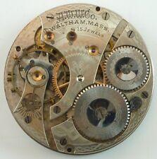 Waltham Pocket Watch Movement - Grade: 620 Hunting - Spare Parts / Repair!