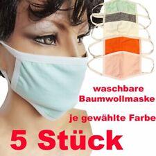 Maske Stoffmaske Baumwollmaske Mund Nase Maske Waschbar 5 Stück je Sorte Maske
