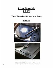 LINN SONDEK LP12 Tips, Tweaks, Set Up & Faqs Manual