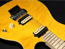 New-Sterling-by-Musicman-AX40-Translucent-Gold-Electric-Guitar-sound- F/S EMS