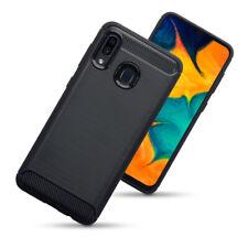 Samsung Galaxy A40 Shockproof Carbon Fiber Fitted Case Bumper Black RX1™