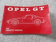 1969 Opel Gt Owners Manual