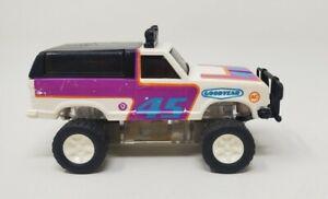 Vintage 1982 Mattel Power Devils Ford Bronco #45 4x4 White Hong Kong