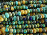 Aged Picaasso Seed Bead, Czech Glass Jade Striped Mix, 1/0-2/0 6mm