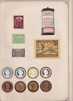 13 Erinnofili Reklamemarke 1914-18 guerra Prussia Germania  Erinnerungsmarke