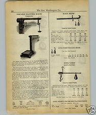1927 PAPER AD Fairbanks Portable Platform Scale Warehouse Type Beam Steel Yard