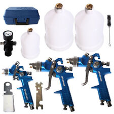 3x Lackierpistole HVLP Spritzpistole inkl. Koffer 0,8+ 1,3 + 1,7 mm + Zubehör