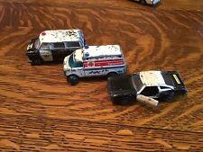 Lot Of 3~Vintage Zylmex Diecast Vehicles~ Paramedics~Sheriff~Highway Patrol