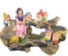 Schneewittchen mit 7 Zwerge 32 cm Hoch 13020 Zwerg Garten Gartenzwerg Figuren