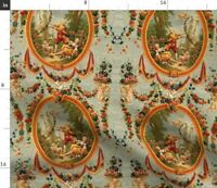 Floral French Rococo Baroque Marie Swag Spoonflower Fabric by the Yard