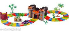 Children Kids Fun Car Track Set LED Light Battery Operated Racing Game Set