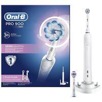 Oral-B pro 900 Sensi Ultradünn Elektrische Zahnbürste Sensitiv Clean mit 2 Köpfe