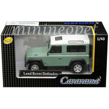CARARAMA 4-55240 LAND ROVER DEFENDER 1/43 DIECAST MODEL CAR WHITE / PASTEL GREEN