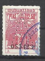 5503-RARO VALOR 112,50 PTS,DESCONOCIDO.SELLO FISCAL MUTUALIDAD JUDICIAL ESPAÑA.