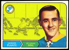 1968 69 OPC O PEE CHEE HOCKEY #181 JACQUES PLANTE EX-NM ST LOUIS BLUES CANADIENS