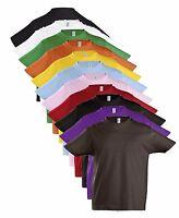 Coton Uni Enfants Fille Garçon Enfant T-Shirt 2-12 Ans