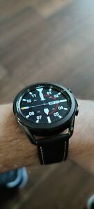Samsung Galaxy Watch3 45mm Stainless Steel Case Leather Strap
