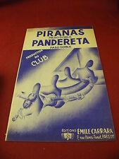 Partition Piranas Pandereta Paso Doble Emile Carrara