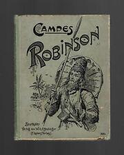 Joachim Heinrich Campe ROBINSON ein Lesebuch fÜr Kinder c1890 Walter Zweigle art