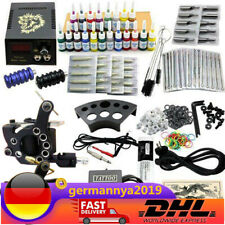 Anfänger Tätowierung Tattoo Kit Tattoo Set Inks 2 Tattoo Maschine 20 Inks DE