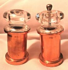 Copper Pepper Grinder and Salt Shaker-Clear Plastic- Great Condition