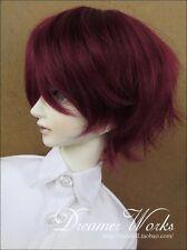 1 3 8-9 Bjd Wig Dal Pullip Bjd Sd Dz Dod Luts Dollfie Doll wigs Short wine red