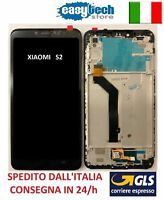 Touch Screen  LCD Display Vetro con Frame Per XiaoMi Redmi  S2 NERO / BLACK