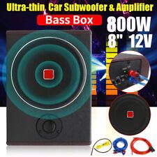 8'' 800 Watt Untersitz Auto Subwoofer Aktiv Bassbox mit Kabelset kompakt Kfz DHL