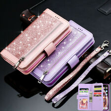 Glitter Leather Flip Wallet Stand Phone Case Cover for iPhone 12 11 8 7 6 XS XR