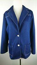 Vintage Alamode of California Ilgwu Women 14 Denim Dress Shirt Jacket Usa M1