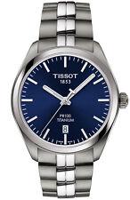 Tissot PR 100 Blue Dial Men's Titanium Date Watch T1014104404100