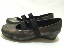 Vaneli Women's Gray Distressed Shimmer Wedge Shoes Size 7.5 M $164