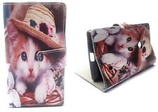 Cute Little kitty Book Wallet Flip Case Cover With Card Slots Nokia Lumia 520