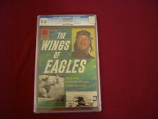 "1957 RARE ISSUE "" THE WINGS of EAGLES "" DELL COMIC BOOK GRADED & CERTIFIED"