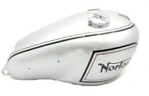 Fuel Petrol Gas Tank Steel Chrome & Silver Painted Norton Dominator Model 7