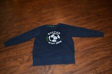 """I7- Jumping Beans Navy Blue """"Soccer Is My Game"""" Sweatshirt Size S (4)"""