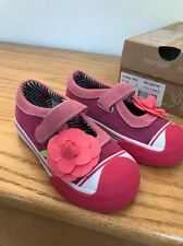 NEW Morgan & Milo Girls Shoes Sneakers Size 8 Pink Suede Flower Libby Maryjane