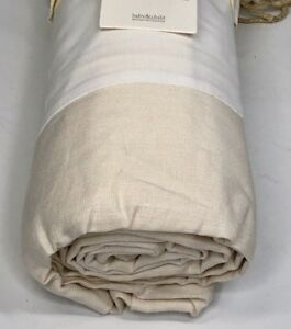 Restoration Hardware Linen Full Bed Skirt 100% Linen Ivory NEW $89