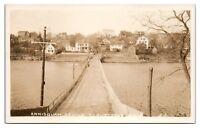 RPPC Annisquam Bridge, Gloucester, MA Real Photo Postcard