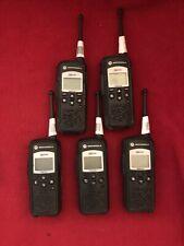 5 Motorola DTR650 Digital Two Way Radios 900 MHz