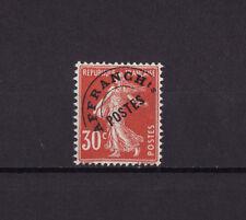 timbre France préoblitéré   Semeuse  30 c  rouge     n° 58 *